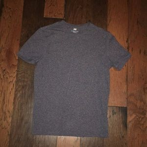 Dark Gray/Blue Two Tone H&M Slim Fit T-Shirt